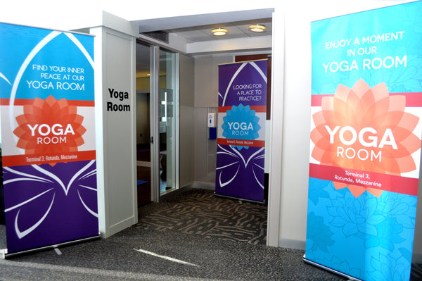 Chicago O'Hare yoga room