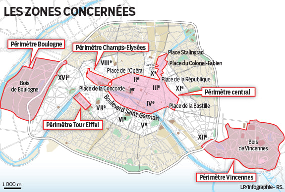 Map of car free day no traffic zones