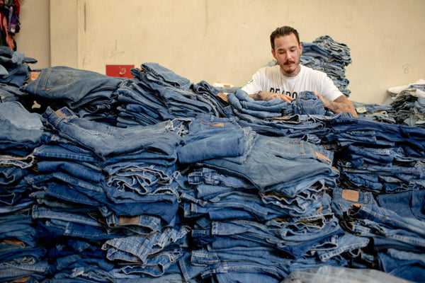 Inside the RE/Done jeans studio