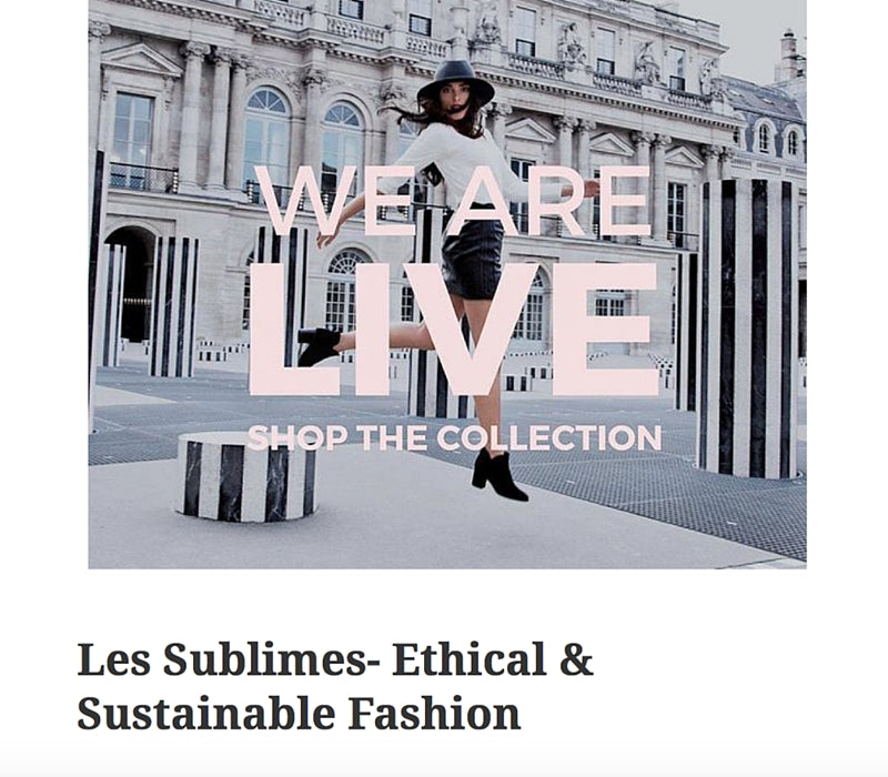 That's A Bang – Les Sublimes: Ethical & Sustainable Fashion, June 2016