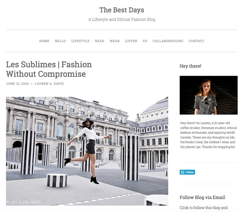The Best Days – Les Sublimes: Fashion Without Compromise, June 2016