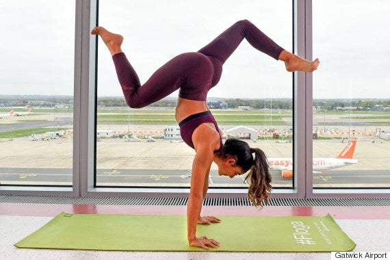 Yoga at the airport Shona Vertue