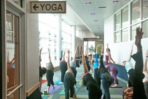 Burlington Vermont Airport Yoga Room