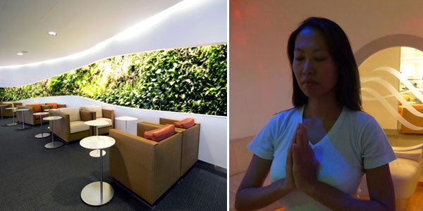 London Heathrow airport yoga room