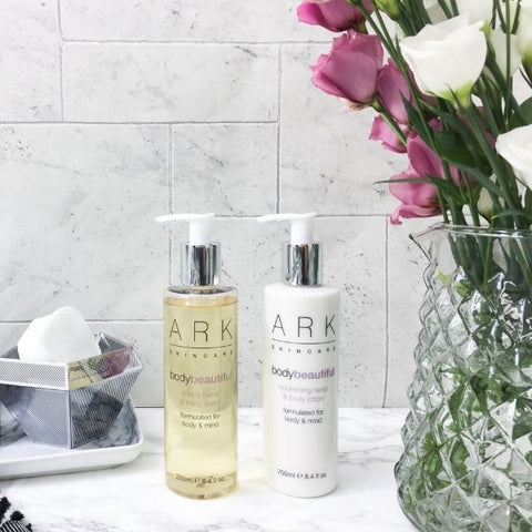 ARK Skincare's Body Beautiful Vitality Hand & Body wash and Nourishing Hand & Body Lotion