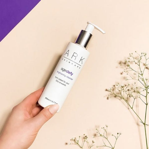 ARK Skincare's Age Defy Brightening Cleanser for 50s and onwards. Mature skin.