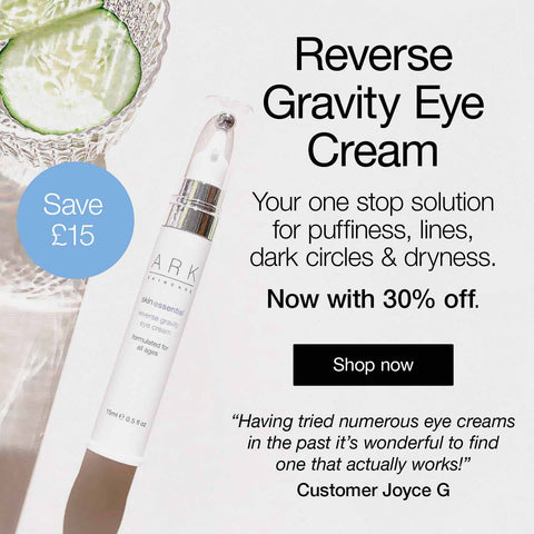 Promotion artwork: ARK Skincare's Reverse Gravity Eye Cream Offer