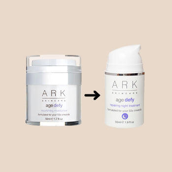 Image: ARK Skincare's new, sustainable moisturiser jar, containing 50% less plastic.