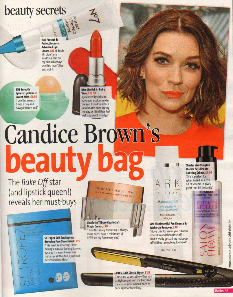 Candice Brown loves ARK's Pre Cleanse & Make-up Remover as it gets all of her make-up off without scrubbing too hard.