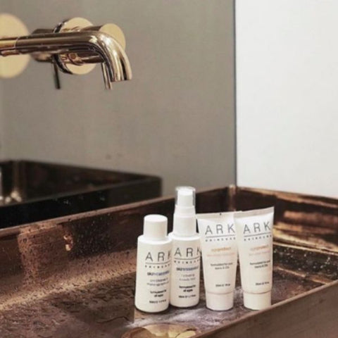 ARK skincare's Age Protect Discovery Set containing four travel sizes