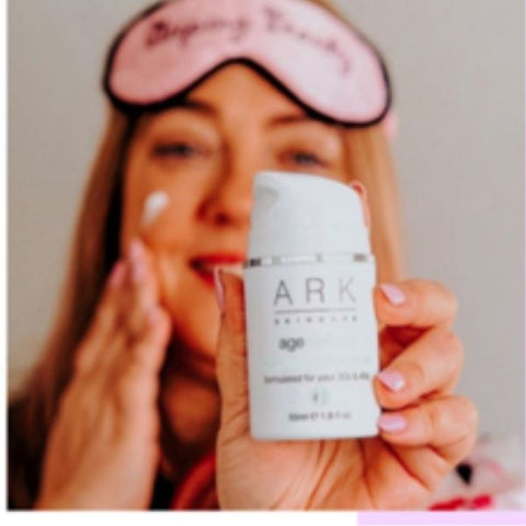 Image: Blogger content showing ARK Skincare's night treatments