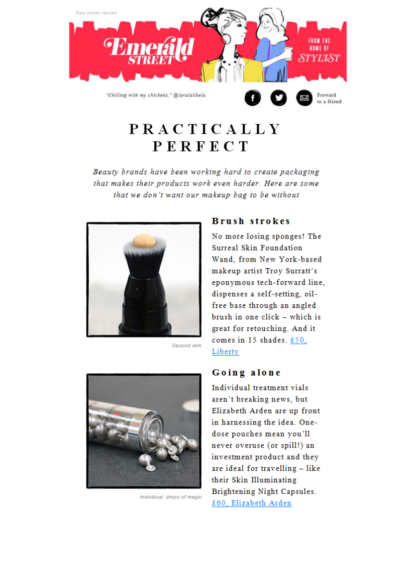 Emerald Street includes ARK Skincare's Reverse Gravity Eye Cream in its Practically Perfect list.