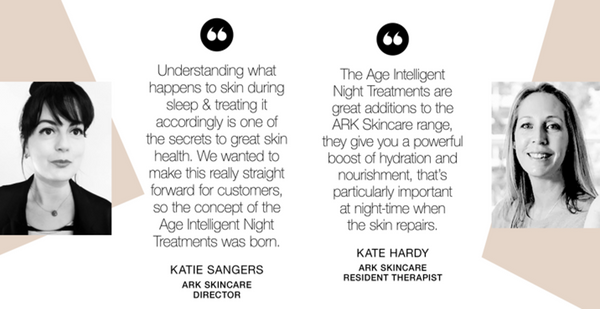 Quotes from members of the ARK Skincare Head Office team, sharing their thoughts on ARK's new night treatments
