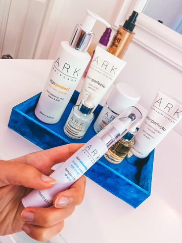 Product Image: Range of ARK Skincare products displayed on dressing table