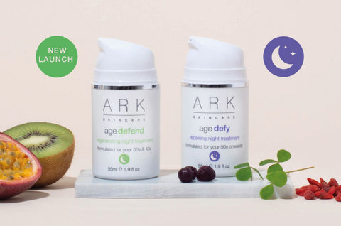 ARK skincare's night treatments with ingredients