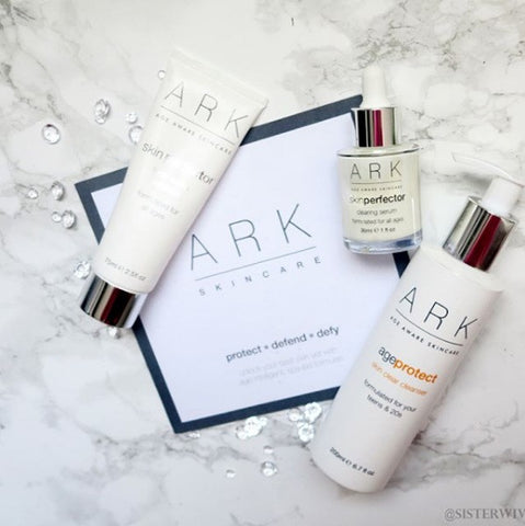 The SisterWivesCollective went through their ARK Skincare journey using the three products shown in the photo.