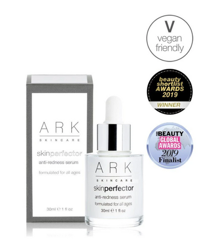 Product Image of ARK Skincare's Anti-Redness Serum with 3 Badges for vegan friendly, beauty shortlist award winner 2019 & beauty global awards 2019.