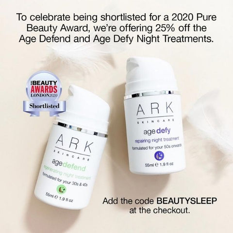 Image: ARK Skincare's Age Intelligent Night Treatments offer