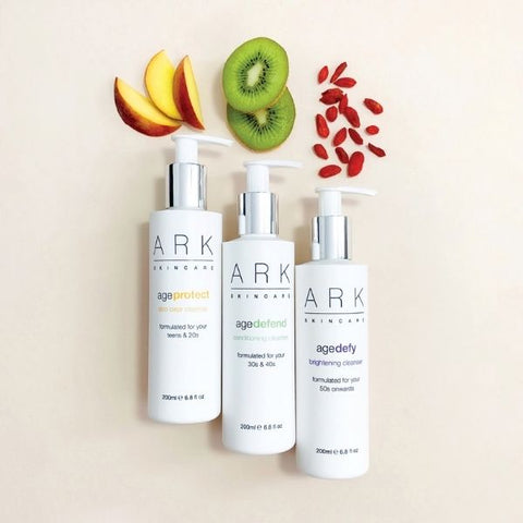 ARK Skincare's Age Intelligent Cleansers. Protect. Defend. Defy. All ages. Natural Ingredients.