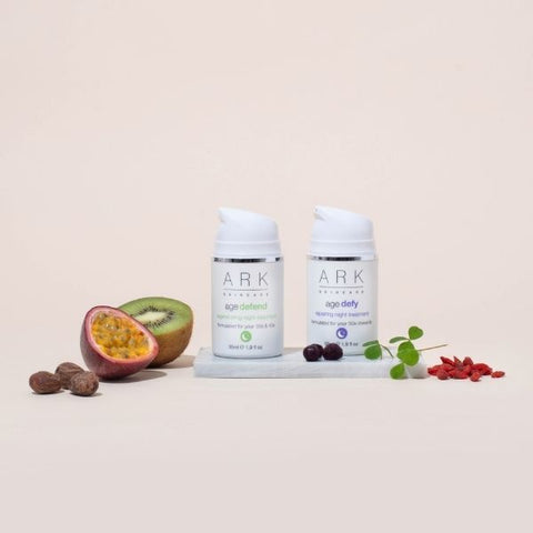 Image: ARK Skincare's Age Intelligent Night Treatments and ingredients