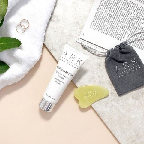 ARK Skincare's Skin Perfector Gua Sha Jade Tool & Hydration Injection Masque