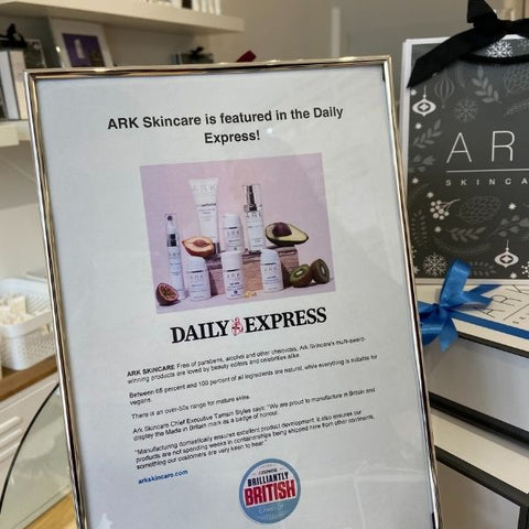 ARK Skincare featured in the Daily Express