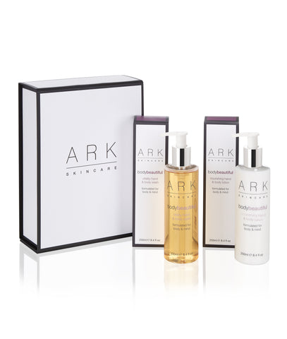 "Alice Theobold describes ARK's Skincare Body Beautiful Duo Gift Set as the perfect gift ""for someone who already has everything."""