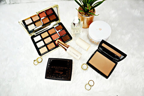 Selection of make-up products