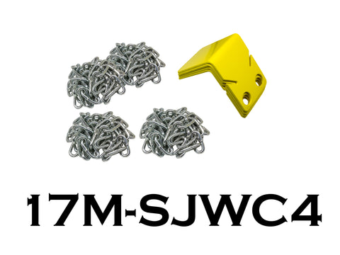 Compact Wheel Chocks With Chain