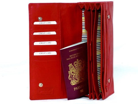 Red Travel Organiser Document Wallet - Just4ugifts Limited - 1