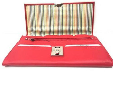 Red Leather Travel Document Wallet Lockable - Just4ugifts Limited - 1