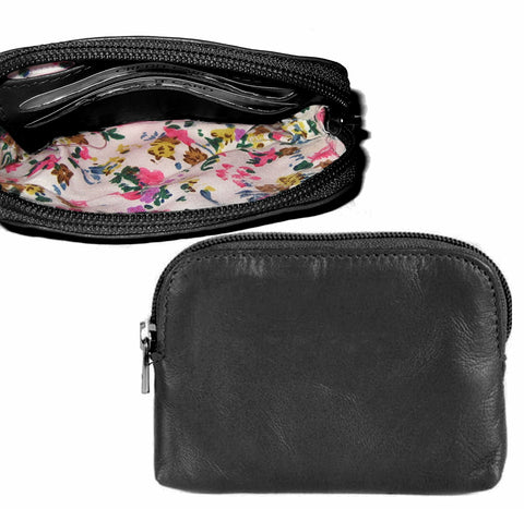 Black Zipped Coin Purse