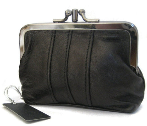 Black Clip Top Framed Purse