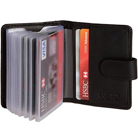 Leather 24 Credit Card Holder Wallet - Just4ugifts Limited - 1