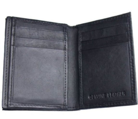 Black Leather Card Holder - Just4ugifts Limited - 1