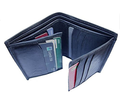 Compact Leather Black Card Wallet - Just4ugifts Limited - 1