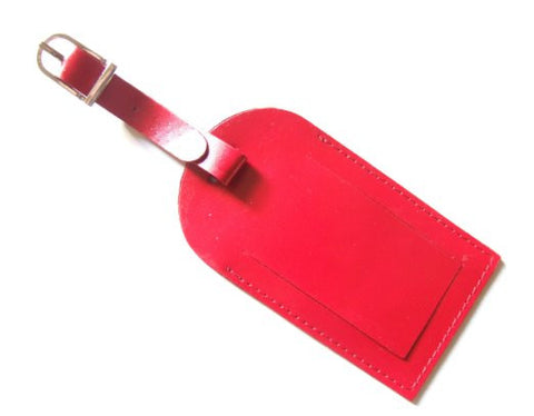 Red Leather Luggage Tag - Just4ugifts Limited - 1