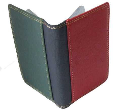 Leather Multi Colour Credit Card Holder - Just4ugifts Limited - 1