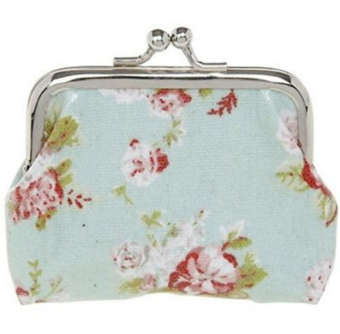 Pretty Clip Top Coin Lined Purse - Just4ugifts Limited