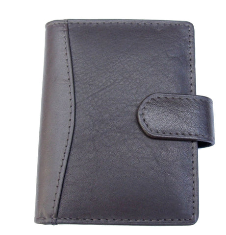 Brown Leather 24 Credit Card Wallet - Just4ugifts Limited - 1