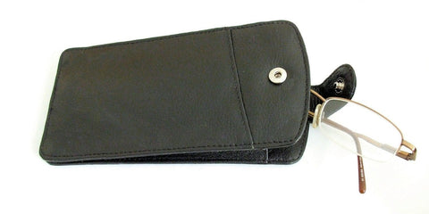 Black Quality Leather Glasses Case - Just4ugifts Limited - 1