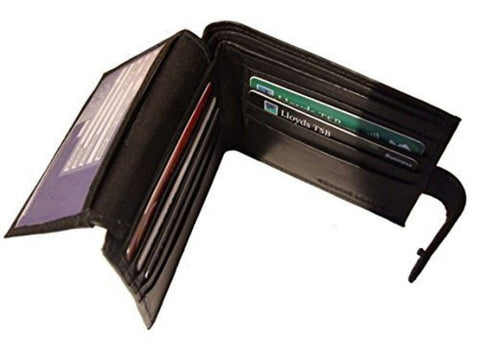Bi Fold Leather ID Wallet - Just4ugifts Limited - 1