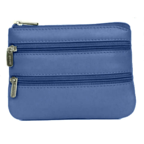Blue Multi Zip Coin Purse - Just4ugifts Limited