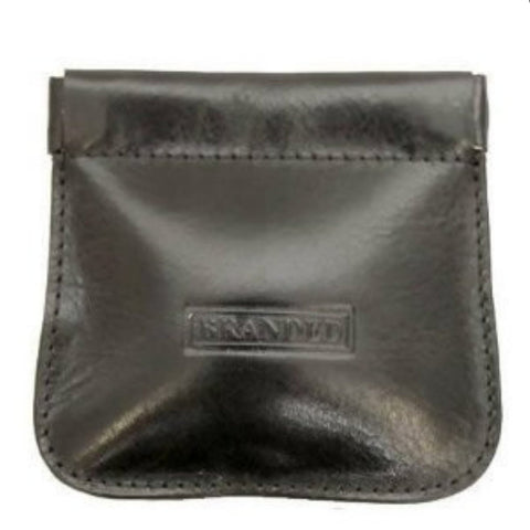 Snap Top Black Stitched Coin Purse - Just4ugifts Limited