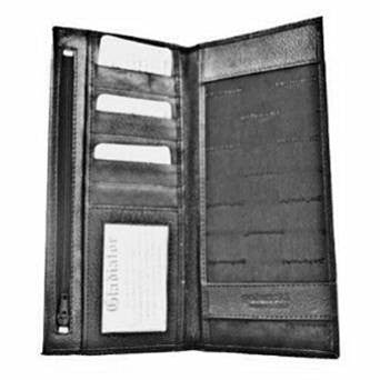 Black Leather Golunski Cheque Book Cover - Just4ugifts Limited - 1