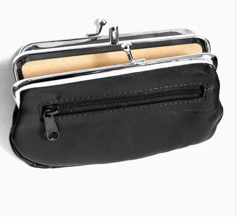 Pouchy Clip Top Black Coin Purse - Just4ugifts Limited - 1