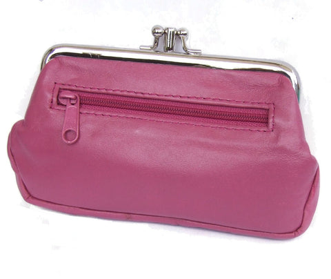 Pink Pouchy Clip Top Coin Purse - Just4ugifts Limited - 1