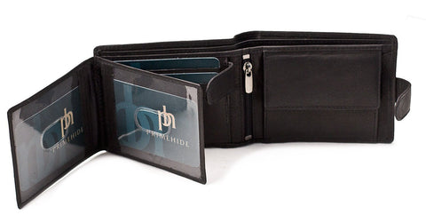 Black Prime Hide Leather Wallet - Just4ugifts Limited - 1