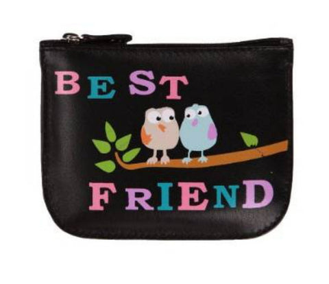 Best Friend Leather Coin Purse - Just4ugifts Limited