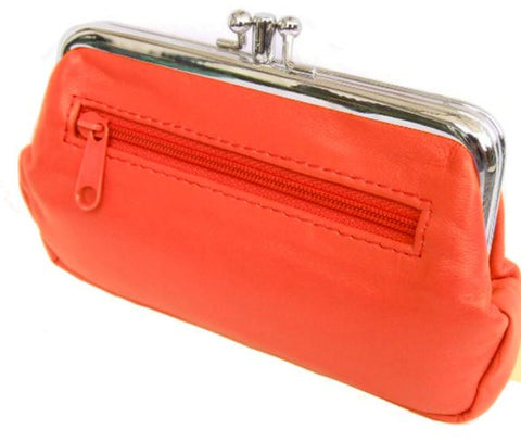 Orange Pouchy Clip Top Coin Purse - Just4ugifts Limited - 1
